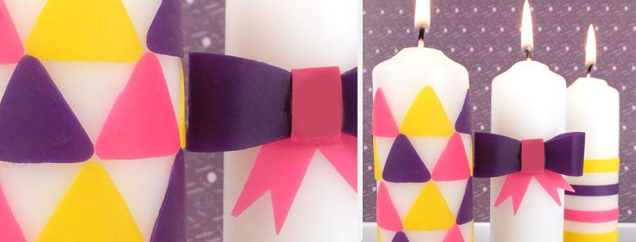 Bougies décorées